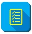 Task List Longshadow Icon vector image