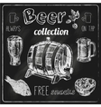 Beer icons blackboard set vector image