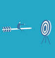 Business man ride on the arrow vector image
