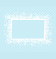 decorative frame with snowflakes for greeting text vector image