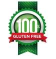 Hundred percent gluten free green ribbon vector image