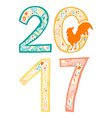 Lettering cock 2017 vector image