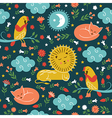 lullaby pattern cute animals vector image
