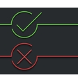 modern green check mark on black vector image