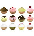 muffin set vector image