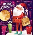 Santa Hipster vector image