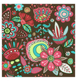 Seamless pattern Magic flowers vector image