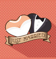 wedding logo design vector image