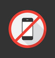 no cell phone icon vector image