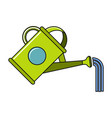 cartoon watering can icon on white background vector image