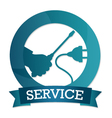 Emblem of electricity service vector image