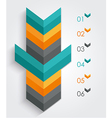 Minimal infographics or Step banners template in vector image vector image