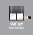 Roman Curtain On Window vector image