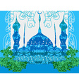 artistic pattern background with mosque vector image