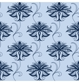 Indian blue lace flowers seamless pattern vector image vector image