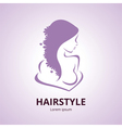 Abstract logo a stylized profile of a women vector image