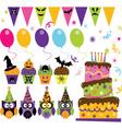 Halloween Party set vector image