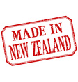 New Zealand - made in red vintage isolated label vector image