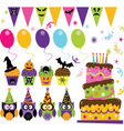 Halloween Party set vector image