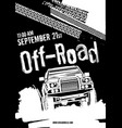 offroad event poster vector image