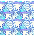 seamless decorative aquatic blue wave with sparks vector image