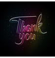 Thank you hand drawn calligraphy Brush calligraph vector image