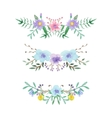 Watercolor floral border set vector image
