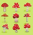 amanita poisonous mushroom isolated vector image