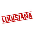 Louisiana red square stamp vector image