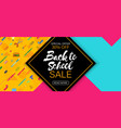 stylish social media and web banner sale template vector image