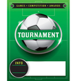Soccer Tournament Template vector image
