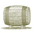 Woodcut Whiskey Barrel vector image vector image