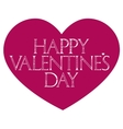 Happy Valentines Day lettering typography vector image