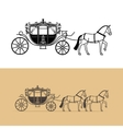 Carriage silhouette with horse vector image