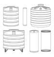 Industrial water tanks set vector image