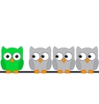Owls are sitting on a wire vector image