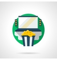Home cinema color detailed icon vector image