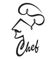 Abstract chef image vector image