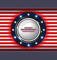 american backgrounds circle vector image