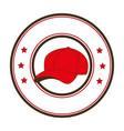 baseball sport hat emblem icon vector image
