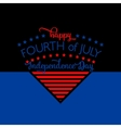 Fourth of july background Felicitation triangle vector image