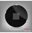Glass button media icon vector image