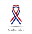 modern colored ribbon with the croatian tricolor vector image