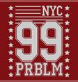 new york t-shirt design vector image