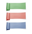 Set of colorful paper banners ribbons with vector image