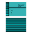 template of business card in blue tones with vector image