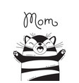 With joyful cat who shouts - mom for vector image