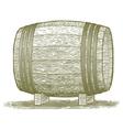 Woodcut Whiskey Barrel vector image
