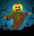 Scarecrow for Halloween vector image