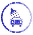 car wash grunge textured icon vector image